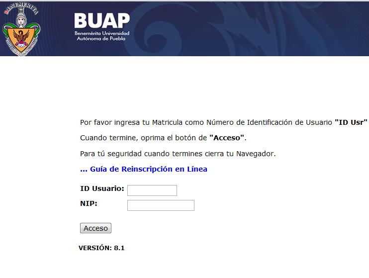 Autoservicios BUAP inscripción a la BUAP 2012