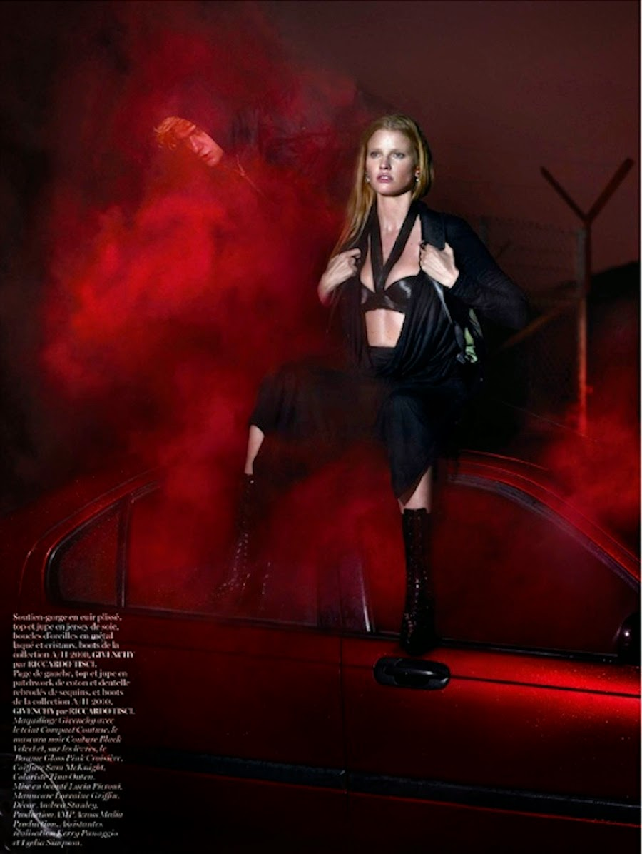 lara stone x givenchy vogue paris april 2014