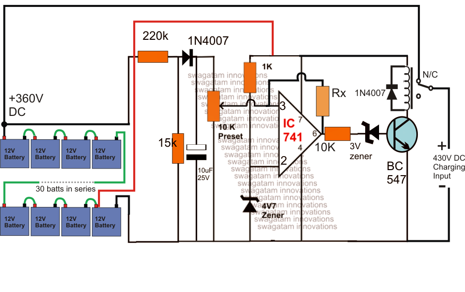 Schematic Diagram For Electric Fence furthermore Typical Substation Layout as well Self Optimizing Solar  m Charger in addition High Voltage 360v Battery Charger further WC. on 12v battery charger circuit diagram