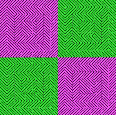 Flashing Squares Optical Illusion