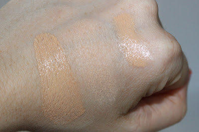 Benefit hello flawless foundation powder and fake up concealer swatches