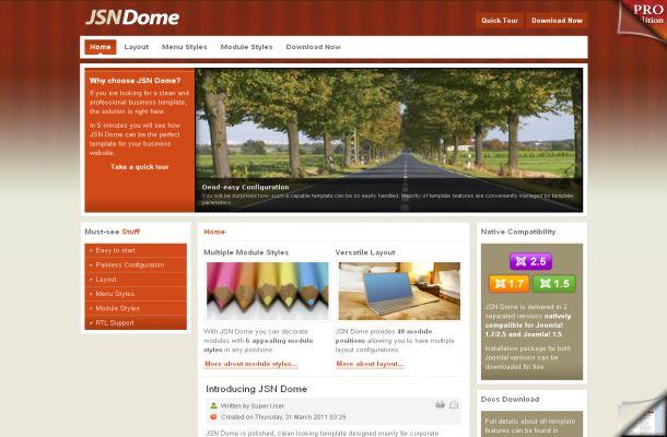 Free Wooden Orange Jquery Joomla Theme Template