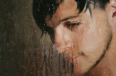 realistic paintings shower