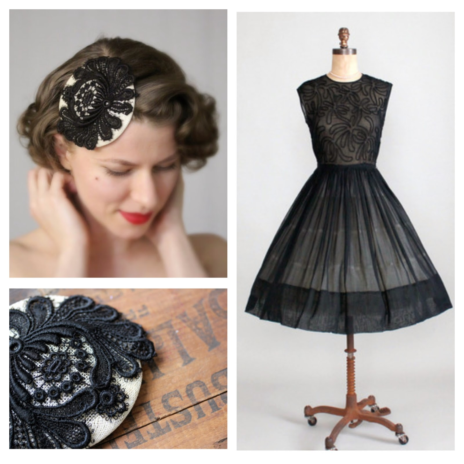 1950s Cocktail Party #1950s #party #cocktail #dress #black #lbd #50s #fashion #hair