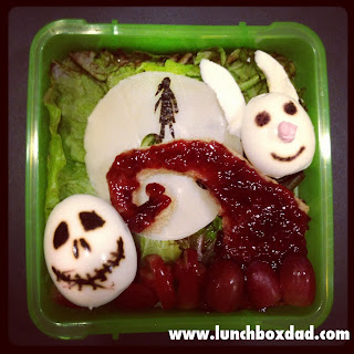 Jack Skellington bento lunch