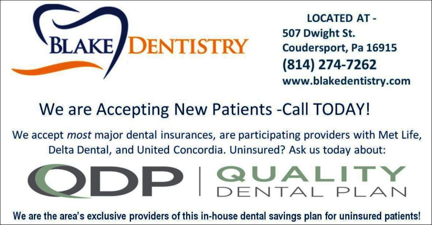 Blake Dentistry, Coudersport, PA