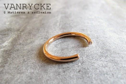 Bijoux diamants Vanrycke or rose bague or 18 carats