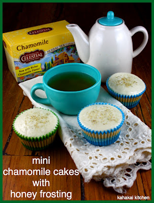 Kahakai Kitchen: Mini Chamomile Cakes with Honey Frosting for the Joy ...