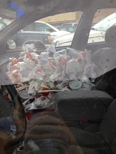how to clean puke out of your car