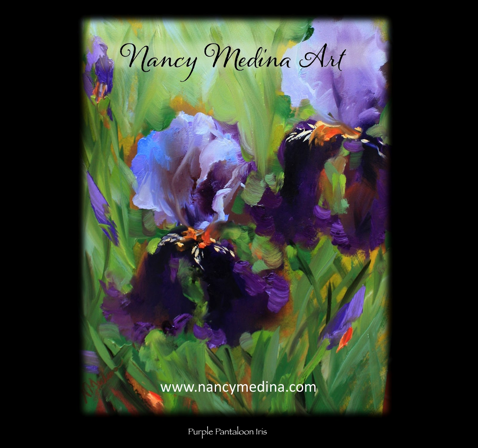 Nancy medina art my new iris painting video purple pantaloons by my new iris painting video purple pantaloons by texas flower artist nancy medina izmirmasajfo