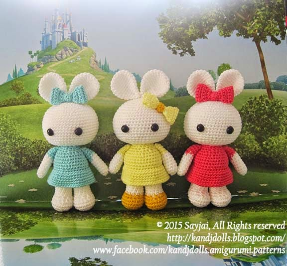 Amigurumi Maneki Neko Free Pattern : Amigurumi Bunny Dolls - Sayjai Amigurumi Crochet Patterns ...