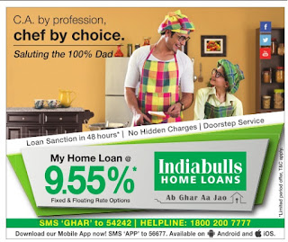 Indiabulls home loans offers @9.55% rate of interest   Lowest rate of interest for home loans