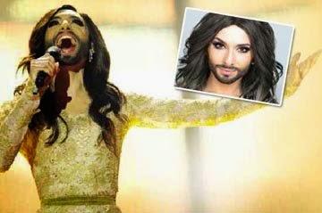 Lelaki berjambang berpakaian wanita muncul juara Eurovision 2014
