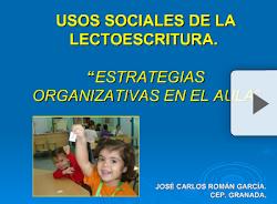 EXPERIENCIAS DE AULA CON TEXTOS SOCIALES: