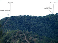 El Fustera amb la Torre de vigilància forestal Romeu