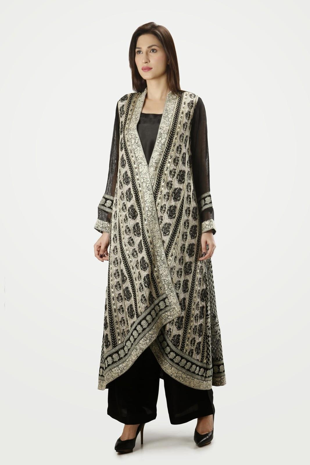 khaad khaas formal dress in black color 2015