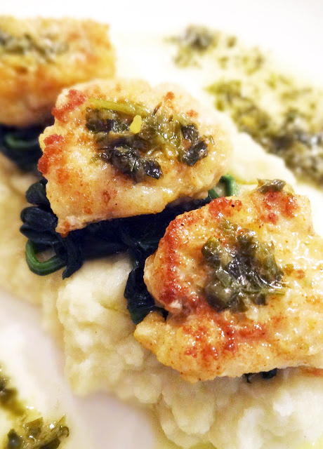 Scrumpdillyicious pan fried monkfish with lemon caper for Lemon butter caper sauce for fish
