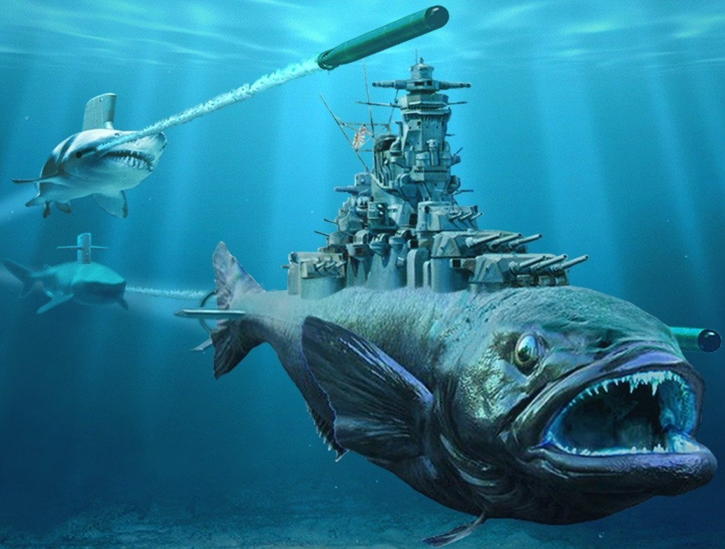 Art representations of warships page 2 other world for Battle fish 2