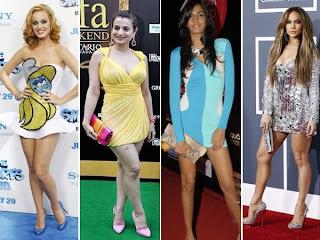 Celebrities in Short Dresses, Celebrities Short Dresses