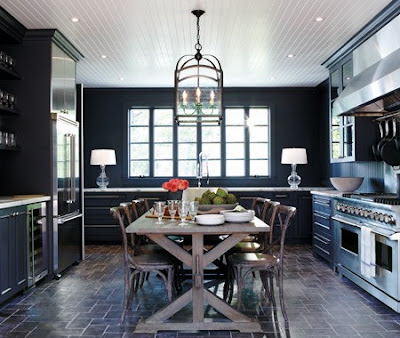 dark navy blue kitchen walls Painted River: The Blue Room
