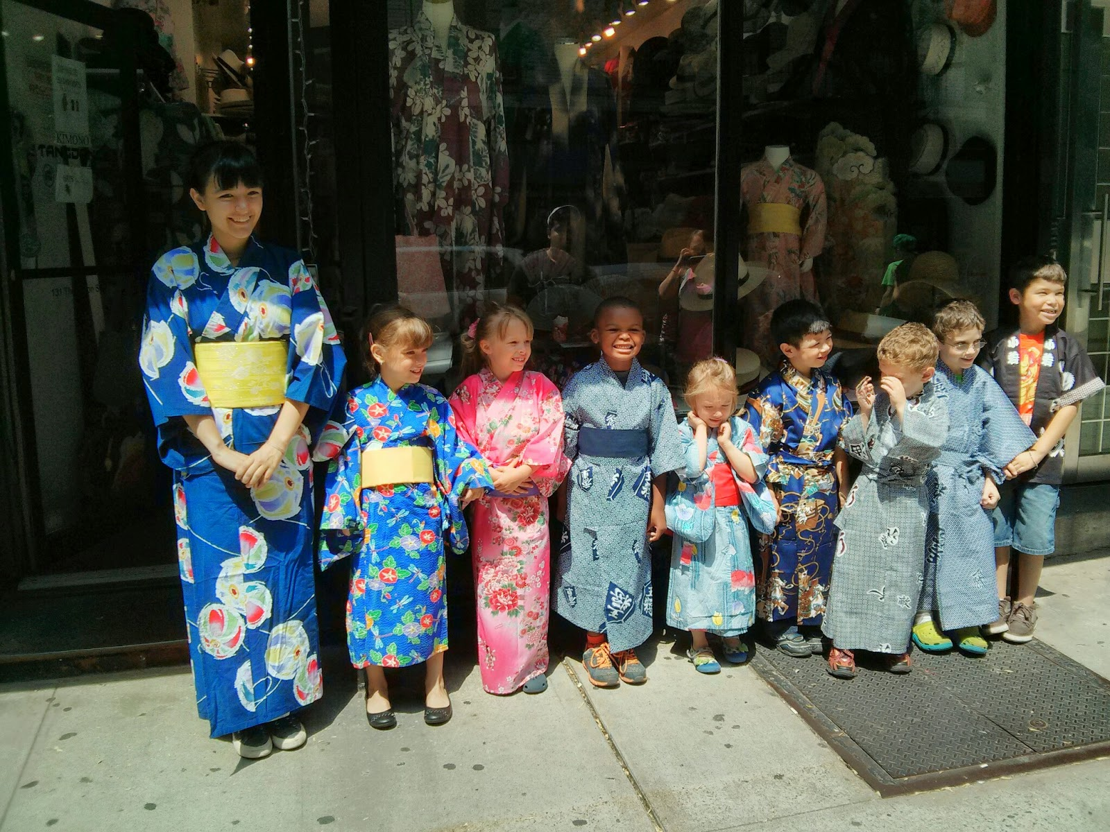 school international day Japanese Kimonos for small boys and girls at Kimono House New York City
