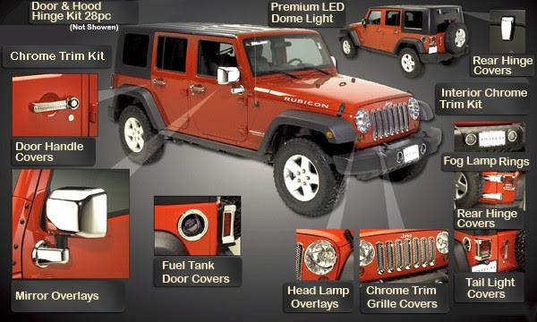 As You Can See On Picture, You Able To Change So Many Parts. But Let Take A  Look On A Few More Important Of Jeep Wrangler Unlimited Accessories: