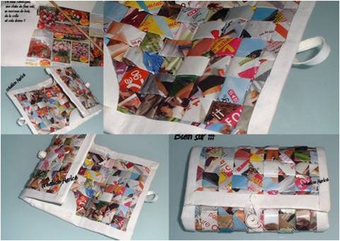 Porte monnaie en papier recycle - Comment faire un magazine ...