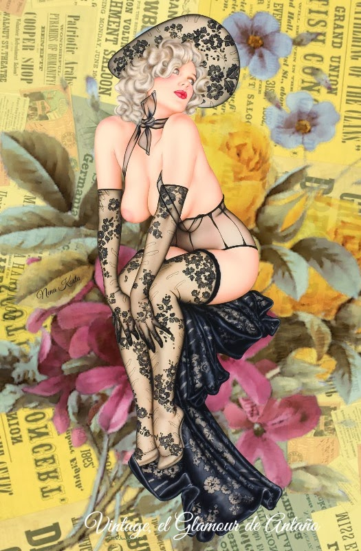 Collages Chicas Pin up