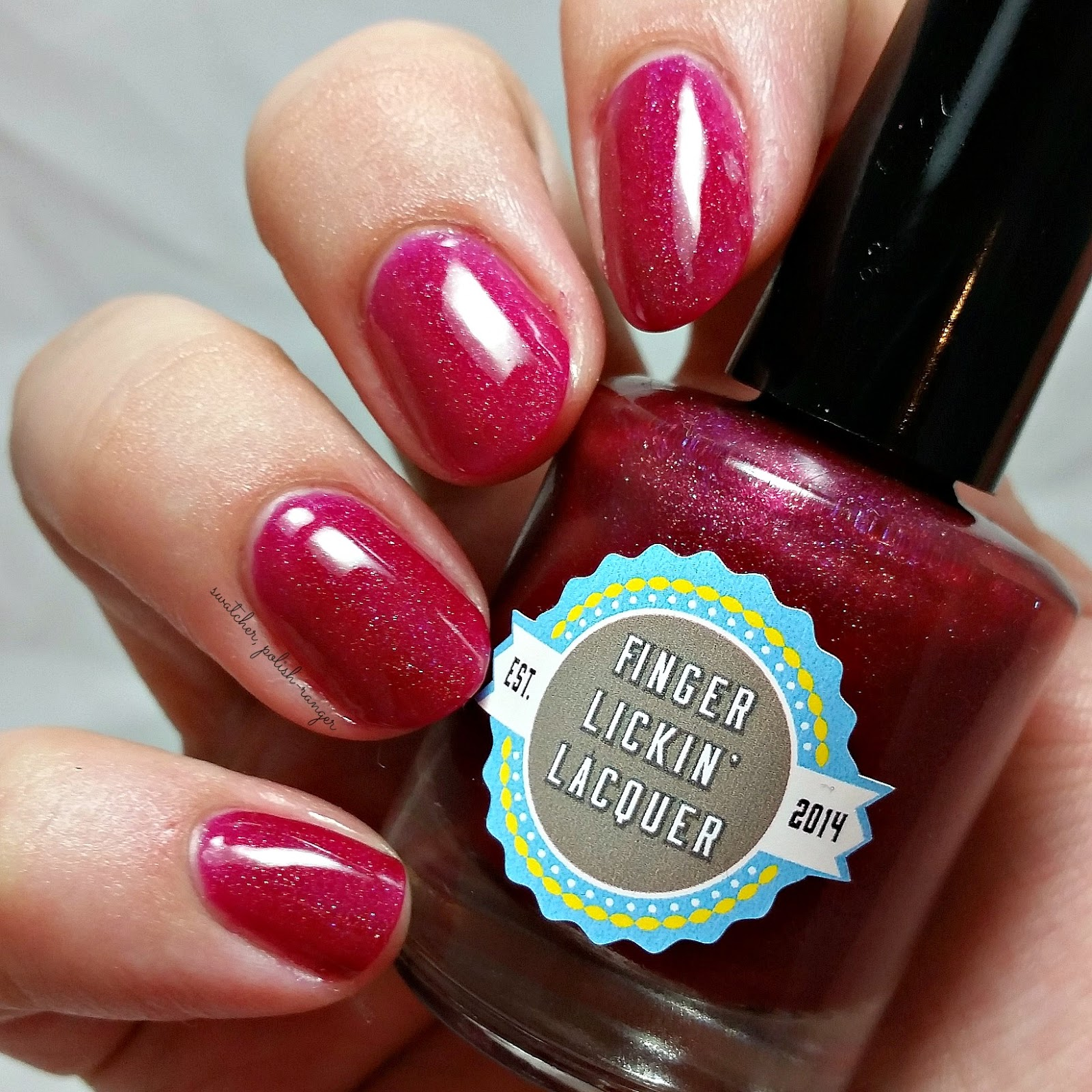 Finger Lickin' Lacquer Cranberry Cosmo swatch