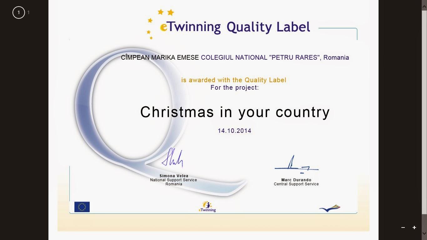 Certificat național de calitate
