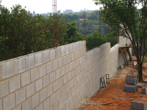 muro de bloco de vedação