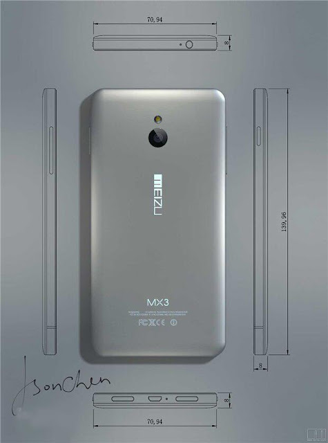 Meizu MX3 Back