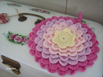 Rosenreslis Traum: gehäkelte Topflappen / crocheted potholders