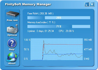 Mengoptimalkan Kinerja RAM dengan finitysoft memory   Mempercepat PC atau Laptop   Memperbaiki Laptop   Windows Lemot