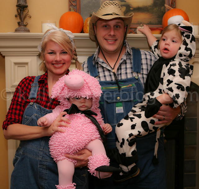 for as long as possible i want to dress the girls in a theme and hopefully scott and i can join them we were a farm family last year so fun