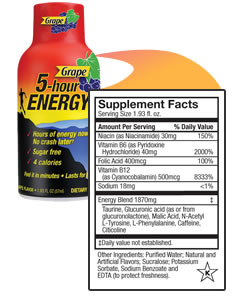 Can You Drink  Five Hour Energy