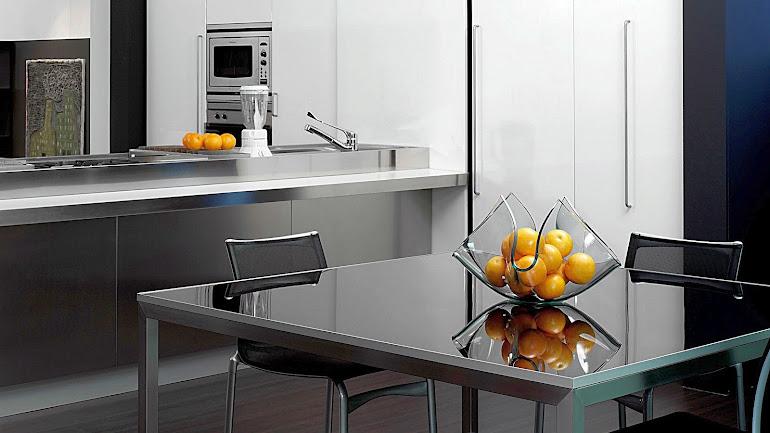 The futuristic interior dining