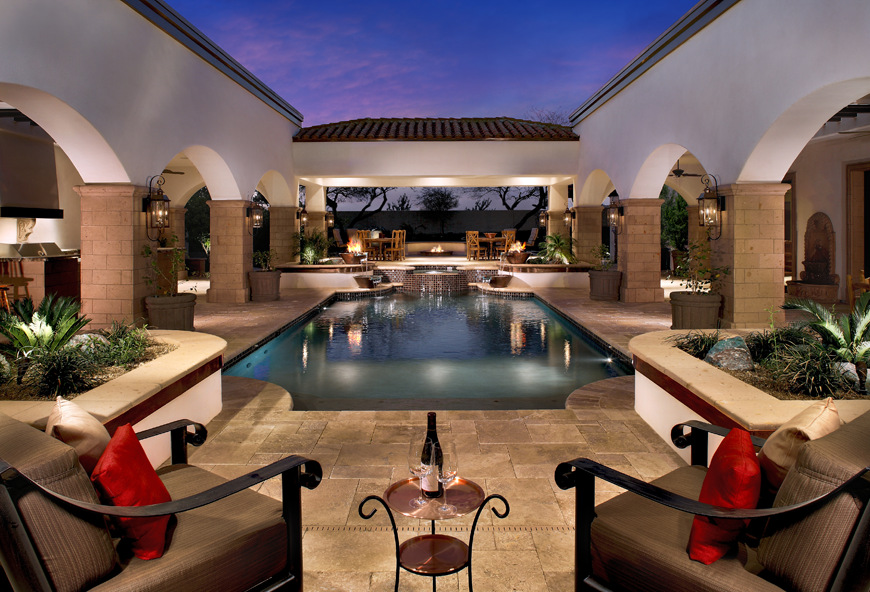 Luxury Homes With Pools elegant pool designs