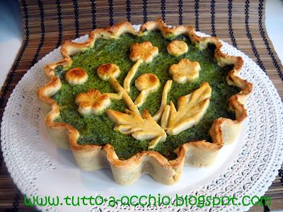 Torta salata/amara al tarassaco