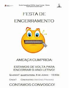 Festa de encerramento - 6 de junho