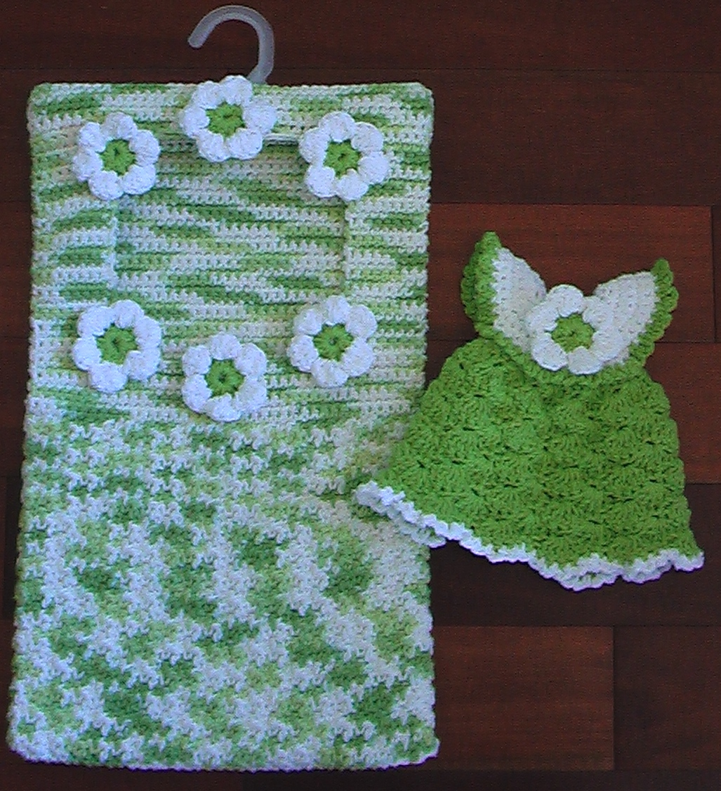 Cute Crochet Chat: Clothespin Bag and Scrubbie Dress Dishcloth