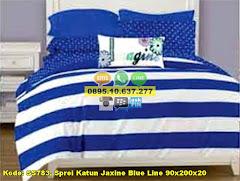 Harga Sprei Katun Jaxine Blue Line 90x200x20 Jual