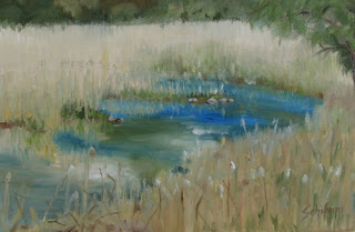 painting water reeds, Schifano