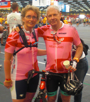 Met Frits Barend tijden de Ride for the Roses 2012.
