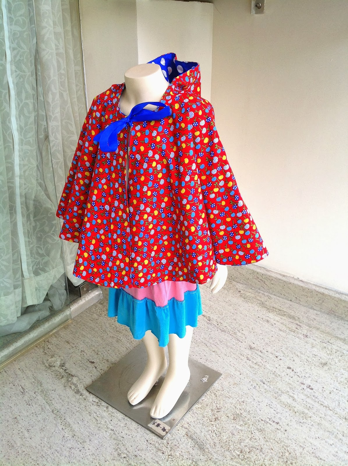 Sewing Patterns for Girls Dresses and Skirts: Cape with Hood ...