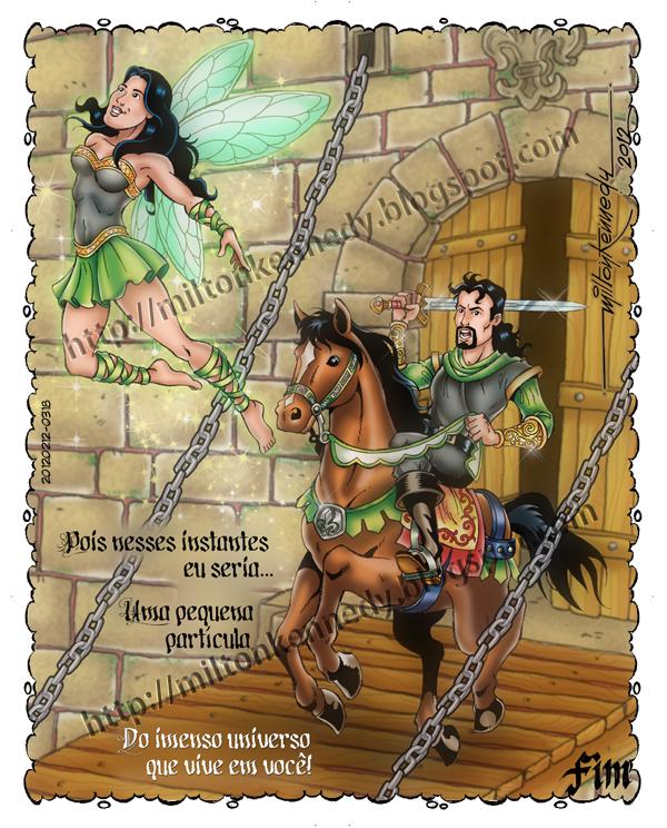 História em quadrinhos texto Tatiana Moreira desenhos Milton Kennedy