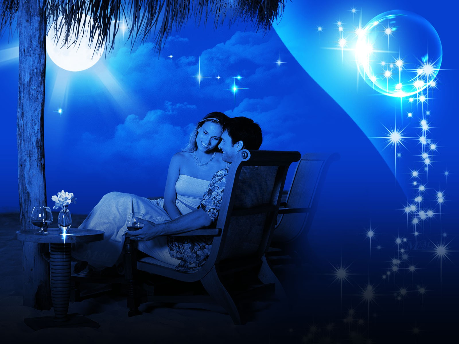 ... romance in moon light - Romantic Love wallpapers for Valentine's Day