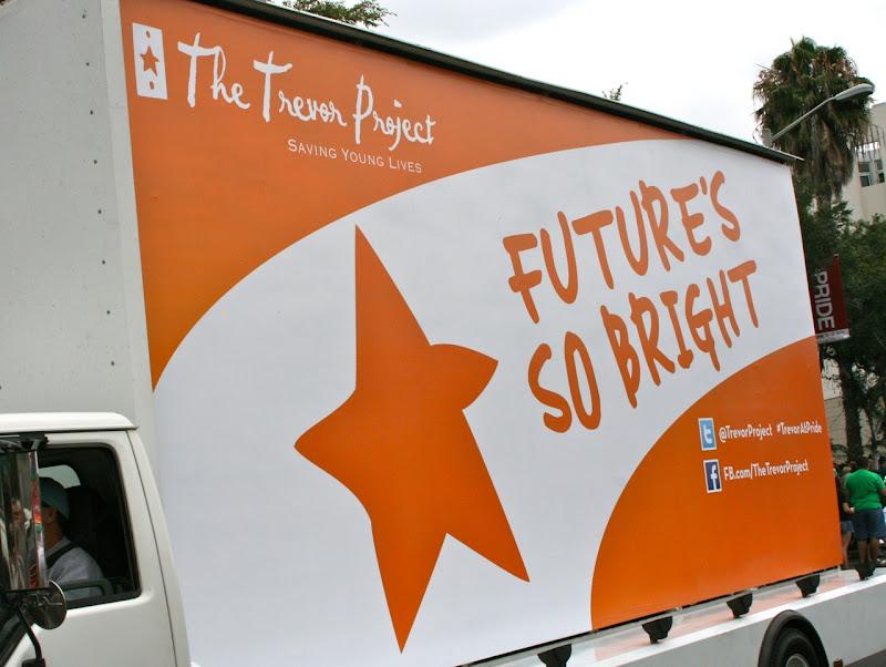 Trevor Project Future's Bright float