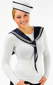 Sailor Hat and Scarf Set for Women