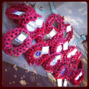poppies, wreaths, remembrance day